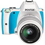 Pentax K-S1 SLR-Digitalkamera (20 Megapixel, 7,6 cm (3 Zoll) Display, ultrakompaktes Gehäuse, Anti-Moiré-Funktion, Full-HD-Video, Wi-Fi, HDMI) Kit inkl. DAL 18-55 Objektiv blue cream soda