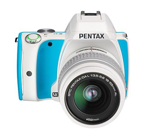 Pentax K-S1 SLR-Digitalkamera (20 Megapixel, 7,6 cm (3 Zoll) Display, ultrakompaktes Gehäuse, Anti-Moiré-Funktion, Full-HD-Video, Wi-Fi, HDMI) Kit inkl. DAL 18-55 Objektiv blue cream soda - Pentax Digital Slr