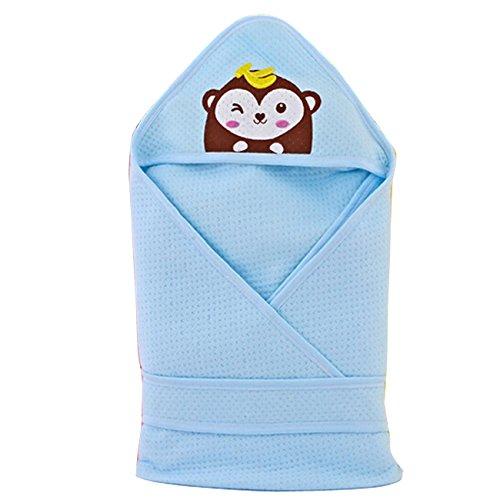 Gaorui Babydecke Kuscheldecke Blau Rosa Gr. 80cm x 80cm Kinderdecke Kuschlig Weich