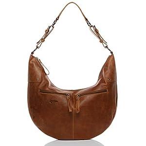BACCINI Bolso bandolera SIENNA - piel genuina - cartera cruzado con asa para el hombro - L - bolso para hombro para (45 x 29 x 5 cm)