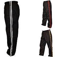 TurnerMAX Artes Marciales Karate Pantalones Negro con raya blanca 200