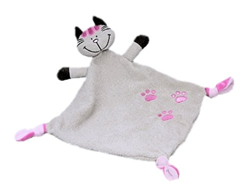 Inwolino 8450 - Schmusetuch Katze Mia, beige, Schnuffeltuch, Trösterchen