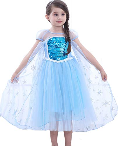 ac3f880a901 Freefly Frozen Girls Princess Costume Cosplay Fancy Dress Party Outfit Kids  3-4 Years