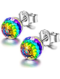 Alex Perry Women Earrrings ♥Fruit Drops♥ 925 Sterling Silver Aurora Borealis Earrings with Crystal from Swarovski ★Anniversary Birthday Wedding Gifts for Women Ladies Girlfriend Sister !