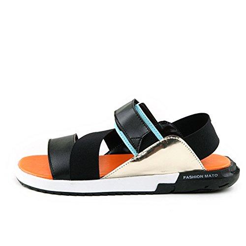 Sommer Herren Hausschuhe/Niedrige Trend für Freizeit Badeschuhe/Toe-Strap Sandalen/Startseite mit flachen Schuhen A