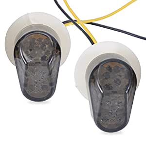Signal personnalisé fumée LED Turn montage encastré clignotant Marker Feu Clignotant Voyant Ampoule