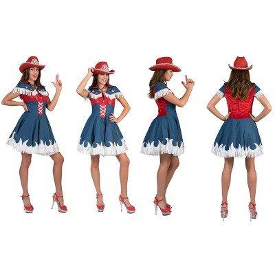 Cowgirl Jeanie Kostüm für Damen - Jeanslook - -