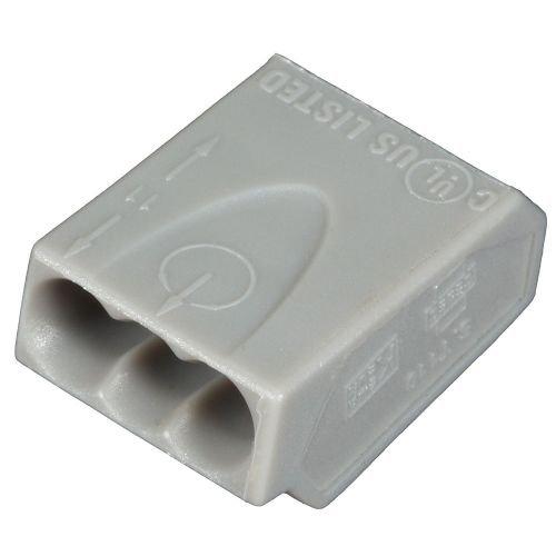 ViD 100 Stück Verbindungsklemmen/Steckklemmen grau 3 x 2,5 mm²