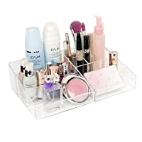 Groß Acryl kosmetik aufbewahrung organizer,Qualitativ Kosmetik Organizer Acryl Make up Organizer Schminktisch Badezimmer (31,3 x 19,4 x 8,3 cm)