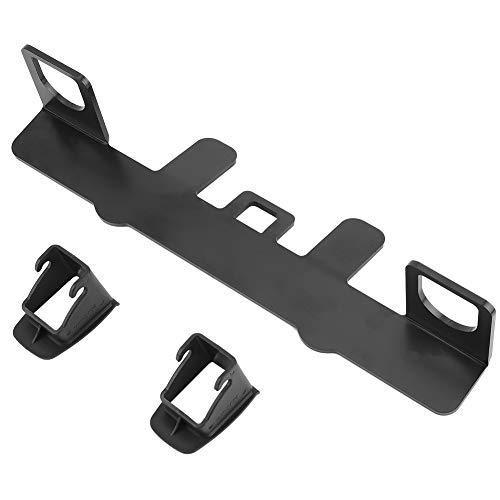 Base de montage de siège de voiture, Base de montage universelle en métal ISOFIX Loquet de fixation de ceinture de sécurité pour voiture, noir