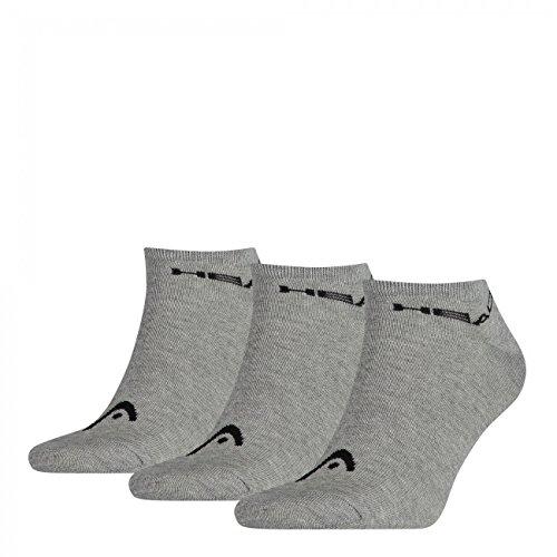 HEAD Unisex Sneaker Sportsocken 9er Pack, Größe:39-42;Farbe:Grey (400)