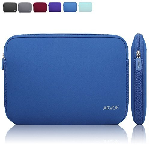 Arvok 13,3 Pollici Sleeve per Laptop / Impermeabile Custodia di Neoprene Borsa per Portatile / Caso Protettiva / Borsa da Trasporto per MacBook Air / MacBook Pro / MacBook Pro con display Retina / Acer / Asus / Dell / Fujitsu / Lenovo / HP / Samsung / Sony / Toshiba Notebook Computer / Chromebook / Ultrabook (13.3, Blu Scuro)