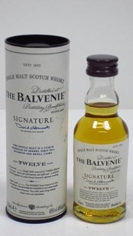 Balvenie 12 jahre alt Signatur Einzel Malt Scotch Whisky 5cl Miniatur