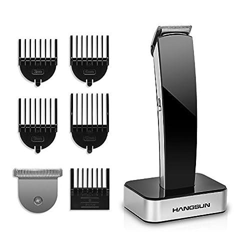 Hangsun Tondeuse Cheveux Sans Fil Professionnel HC360 Tondeuse Barbe Électrique Rechargeable 2 Lames Doublement AffûTéEs Utilisation