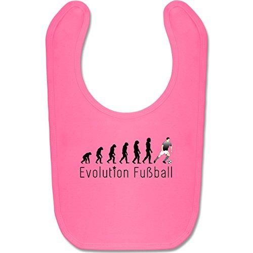 Shirtracer Evolution Baby - Fußball Evolution - Unisize - Pink - BZ12 - Baby Lätzchen Baumwolle (Baby Rosa Fußball Kostüm)