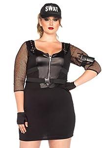 Leg Avenue- Oficial Mujer, Color negro, Talla Plus 3X/4X (EUR 52-56) (85421X09001)