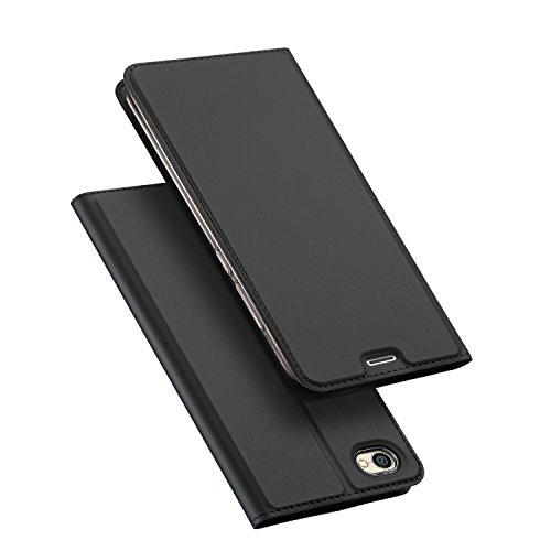 DUX DUCIS Xiaomi Redmi Note 5A Hülle,Flip Folio Handyhülle [Standfunktion] [1 Kartenfach] [Magnet] [Anti-Rutsch] Ultra Dünn Ledertasche Schutzhülle Case Cover für Xperia XZ2 Premium (Grau)