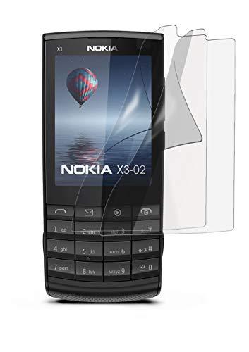 2X Nokia X3-02 | Schutzfolie Matt Display Schutz [Anti-Reflex] Screen Protector Fingerprint Handy-Folie Matte Displayschutz-Folie für Nokia X3-02 Displayfolie (Nokia X Screen Guard)