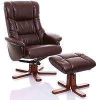 Oriental Leather Co Ltd Shanghai - Sillón de salón, Color marrón