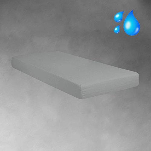 Unbekannt BettwarenShop Jersey Spannbetttuch wasserdicht silber, 180x200-200x200 cm
