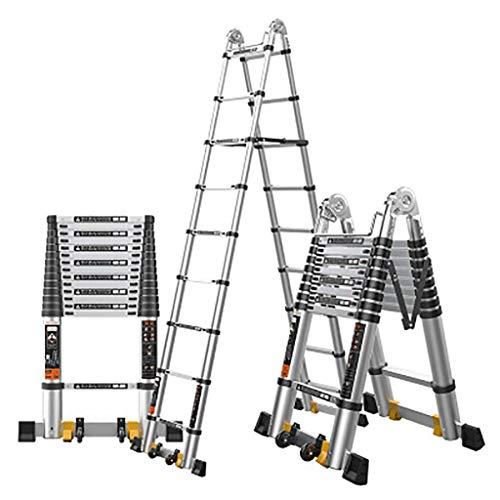 Multifunktion Teleskop Leiter,erweiterung Leiter Portable Ausfahrbare Anti-rutsch Zusammenlegbar Treppenleiter Aluminium-legierung Leiter-a4 2.9+2.9m (Portable Storage-schuppen)