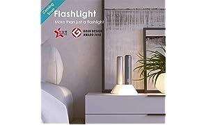 Allocacoc batterie lampe torche LED Lampe de poche 2400mAh Lithium rechargeable luminosité réglable lampe de poche avec corps en aluminium pour le camping, Voyage, randonnée