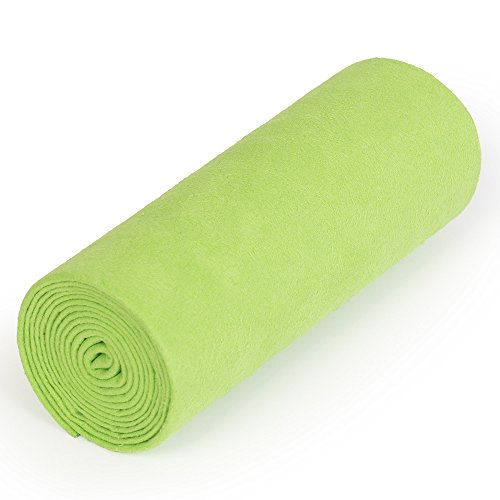nu:ju® Serviette de sport/fitness, serviette de voyage en microfibres argent ionisé, 1 moyen lot (70 x 150 cm), Greenery. Légèreté - absorbant - résistant - lavable jusqu'à 95