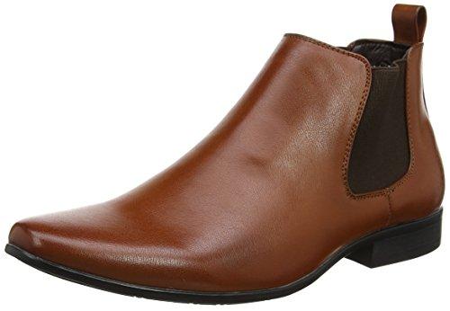 New Look Men's Pu Workwear Chelsea Boots, Brown (Tan), 8 UK 42...