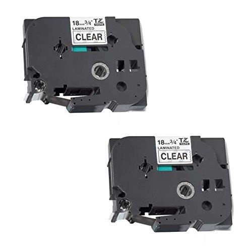 Prestige Cartridge 2 Kassetten Brother TZe-141 TZ-141 schwarz auf transparent 18mm x 8m Schriftband kompatibel für Brother P-Touch PT-2030VP 2430PC 3600 9600 D400 D400VP D450VP D600VP E300VP E550WVP H300 H500 H500LI P700 P750W Beschriftungsgerät