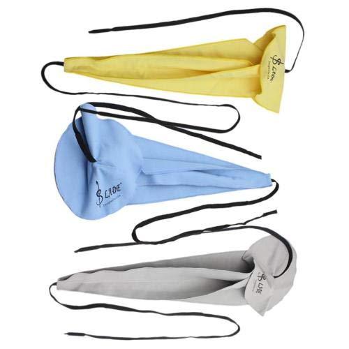 FidgetGear Alt Tenorsaxophon Crook Mikrofaser-Reinigungstücher zum Durchziehen blau