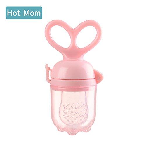 Hot Mom Fütterhilfe Food Feeder Fruchtsauger Nahrung Futterspender schnuller Pink