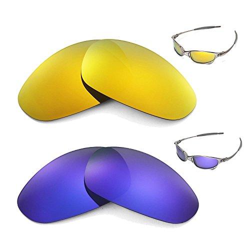 627ef4ea5d Walleva Polarized 24K Gold + Purple Lenses for Oakley Juliet. Walleva  Replacement Lenses for Oakley Razrwire Sunglasses - Multiple options