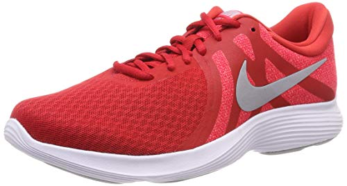 Nike Herren Revolution 4 EU Laufschuhe, Mehrfarbig (University Red/Wolf Grey/Red Orbit/White 601), 45 EU