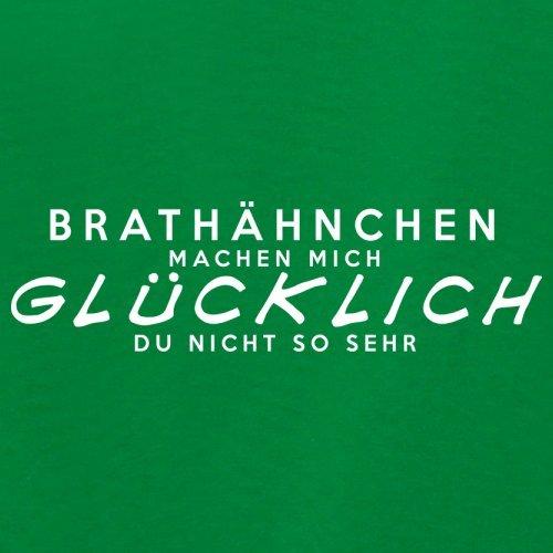 Brathähnchen machen mich glücklich - Unisex Pullover/Sweatshirt - 8 Farben Grün