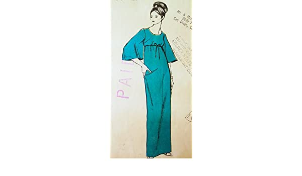 Polynesian Pattern 174 Opiopio, Muu Muu Floor Length Dress Vintage Sewing Pattern Wedding, Prom Formal by Polynesian Patterns: Amazon.co.uk: Kitchen & Home
