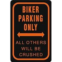Blechschild Biker Parking Only ... 20 x30 cm