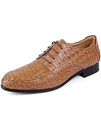 Herring Santano - Zapatos de Cordones Para Hombre Negro Cocodrilo Negro, Color Negro, Talla 43,5 EU
