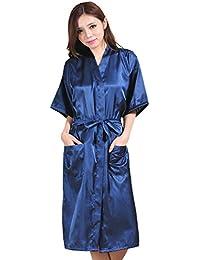 5b12d4a573 BOYANN Raso Vestaglie e Kimono Lungo Pigiami e Camicie da Notte  Allattamento Donna Accappatoi
