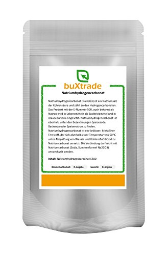 1 kg Natriumhydrogencarbonat Natron E500 Backsoda Baking Soda Natriumsalz