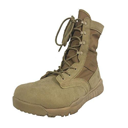 LiliChan Männer 8 Zoll Taktische Militär Stiefel mit Sicherheit Zehe Tan
