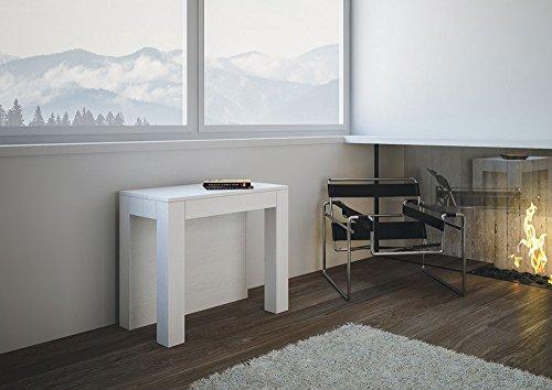 Group design consolle big due tavolo allungabile bianco frassino in legno ingresso ry-co/013-bf-90