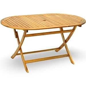 Tavolo da giardino in legno pieghevole casa e cucina - Amazon tavoli da giardino ...