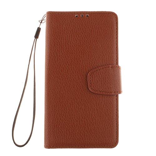 LG D331 Hülle, LG L Bello Hülle, Lifeturt [ Braun ] Bookstyle Handyhülle Flip Case [Premium PU Leder] Ledertasche Brieftasche Schutz Handytasche mit Standfunktion und Kredit Kartenfächer Schutzhülle Etui für LG L Bello D335 D337 D331