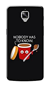 HACHI Premium Printed Cool Case Mobile Cover for OnePlus 3t