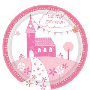 Amscan International 990187123cm Kommunion Kirche Pink Pappteller