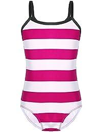 98af1b4025b0bc Tiaobug Mädchen Einteiler Badeanzug Streifen Muster Kinder Bademode Vintage  Modisch Badekleidung Schwimmanzug Monokini…