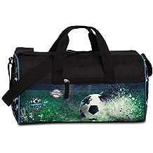 26fe87ede3902 FABRIZIO Kindersporttasche Sporttasche Reisetasche Fussball Soccer schwarz