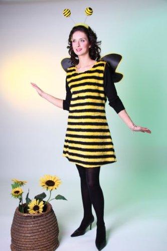 Karneval Damen Kostüm Biene Kleid als Bienenkostüm Größe 44/46