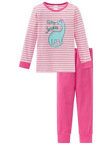 Schiesser Mädchen Md Anzug lang Zweiteiliger Schlafanzug, Rot (Rosa 503), (Herstellergröße: 128)