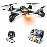 Asbww| Drone avec Caméra Full HD 1080p et Fonction GPS pour Débutants et Enfant - Drones Quadricoptère RC avec Retour Automatique / Photos & Vidéos HD 1080p / WiFi en Temps Réel FPV